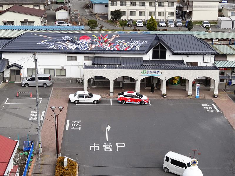 客室から駅前が見える部屋からの眺望イメージ
