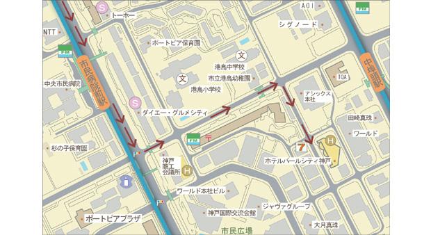 ホテル周辺駐車場マップ