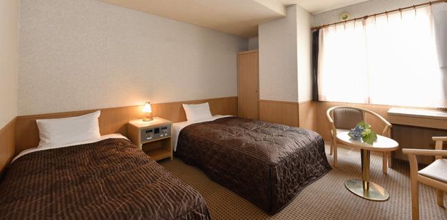 パールシティ札幌の客室ツインルーム